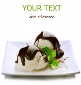 pic of sweetie  - Ice cream with Chocolate topping - JPG
