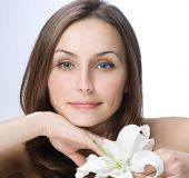 Beautiful Spa Woman portrait.Clear fresh skin