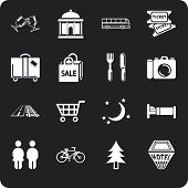 touristische Orte Icon-set