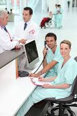 picture of medical staff  - Medical staff in office - JPG