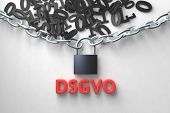 DSGVO, german version of GDPR, concept illustration. General Data Protection Regulation, the protect poster