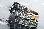 Ring And Earring With Diamonds