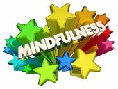 Mindfulness Stars Clear Thinking Thought Process 3d Illustration poster