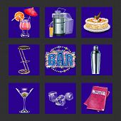 Bar And Night Club Icons