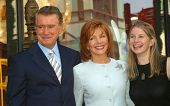 LOS ANGELES - APR 10: Regis Philbin; wife Joy; daughter Jennifer at a ceremony where Regis Philbin r