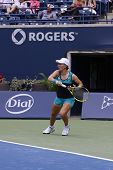 TORONTO: AUGUST 11. Halep plays against Kuznetsova in the Rogers Cup 2011 on August 11, 2011 in Toro