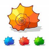 Sea shell - vector icon