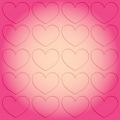 Background Picture On The Theme Of Love And Valentines Day. Vector Illustration Pop Art Vintage Rays poster
