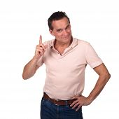 Attractive Smiling Man Wagging Finger