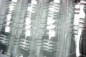 Backgorund Texture Pattern Of Plastic Beverage Bottles