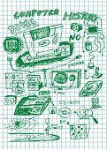 Set Of Old Computer Backup Technology