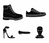 Sneakers With Laces, Winter Warm Boots On High Soles, Womens Ballet Flats, High-heeled Sandals. Sho poster