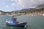Fishing boat at Ithaki island in Greece