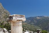 Single ionic order capital at Delphi