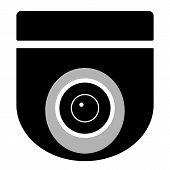 Cctv Camera On White Background. Cctv Sign. Security Camera Icon. Video Surveillance. Black Icon Sur poster