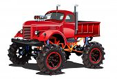 Cartoon Monster Truck. Available Eps-10 Separated By Groups And Layers For Easy Edit poster