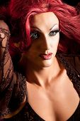 stock photo of transvestite  - Drag Queen - JPG