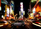 picture of new york night  - The Times Square in New York City at night