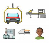 Automotive Industry And Other  Icon In Cartoon Style.new Technologies Icons In Set Collection. poster