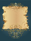 Grunge dekorative Banner. Es eignet sich für superscribe mit floralen Elementen.