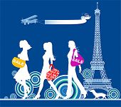 image of street-walker  - Shopping girls - JPG
