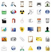 Set of icons for website, icons for network, illustration