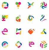 Set of abstract design elements, vector illustration