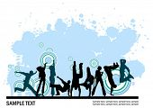 Everyone dancing and having fun. Dancing people.  Vector images scale to any size.