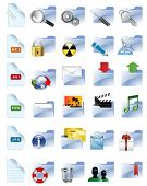 Set of Internet and multimedia icons. All elements are individual objects. Vector illustration scale