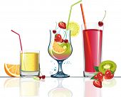 picture of fruit-juice  - Juice and fruits - JPG