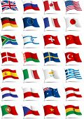 stock photo of japanese flag  - Set of flags - JPG