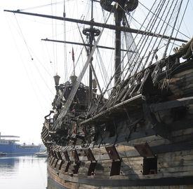 stock photo of pirate ship  - pirate boat - JPG