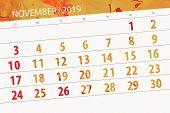 Calendar Planner For The Month November 2019, Deadline Day poster