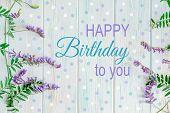 Happy Birthday To You. Birthday Card Design With Flowers For Birthday. Birthday Card For Mother, Gir poster