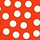 Polka Dot Seamless Pattern For Retro Fabric With Bauhaus Style poster