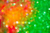 Abstract Bokeh Multi Colors Sparkles, Festive Christmas Sparkling Lights Bokeh Background. Yellow, O poster