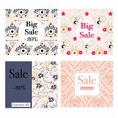 Elegant Celestial Elements In A Set Of 4 Commercial Banners poster