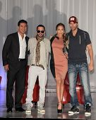 LOS ANGELES - APR 30:  Mario Lopez, Yandel, Jennifer Lopez, Enrique Iglesias at a press conference to announce a Summer Tour at Boulevard3 on April 30, 2012 in Los Angeles, CA