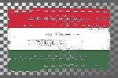 Hungarian National Flag Isolated Vector Illustration. Travel Map Design Graphic Element. Europe Coun poster