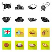Isolated Object Of Culture And Sightseeing Sign. Collection Of Culture And Originality Vector Icon F poster