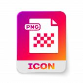 White Png File Document. Download Png Button Icon Isolated On White Background. Png File Symbol. Rec poster