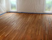 New Hardwood Floor Refinish