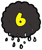 cartoon raincloud number six