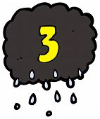 cartoon raincloud number three