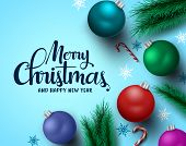 Merry Christmas Greeting Card Vector Background. Merry Christmas And Happy New Year Typography Text  poster