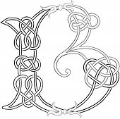 Celtic Knot-work Letter B Outline