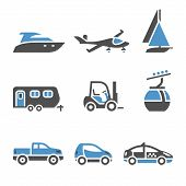 Transport Icons - A set of first