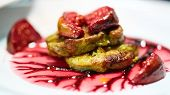 Grilled Foie Gras, A Delicious Dish For Dinner. poster