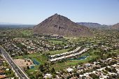 Camelback Mountain Surrounded By Golf Course