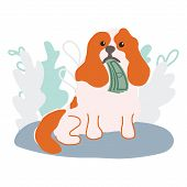 Cute Dog Holding Cash For Pet Insurance Concept. Pet Insurance Is Worth The Money Idea. Pet Care Ban poster